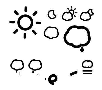 Пример: различните икони кои ги нуди, притоа и во различни големини